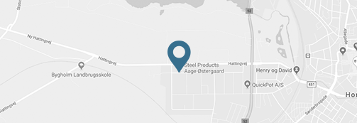 Map showing Steel Products Aage Ostergaards geografical location